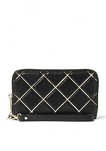 MICHAEL MICHAEL KORS Jet Set Travel Large Quilted-Leather Phone Case, WAS $168
