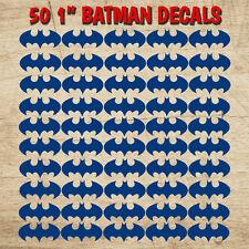 "BATMAN VINYL DECAL 50 STICKERS SHEET Envelope Seal DIY Card Flashlight 1"" Decals"