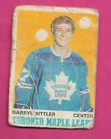 1970-71 OPC  # 218 LEAFS DARRYL SITTLER  ROOKIE POOR CARD  (INV# D4036)