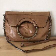 Hobo International Leather Cross Body Shoulder Bag Camel Brown