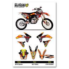 2011-2012 KTM SX-SXF BTO Dirt Bike Graphics kit Motocross Graphics Decal