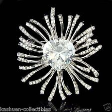 w Swarovski Crystal Valentine Love Heart Stone Bridal Wedding Mothers Day Brooch