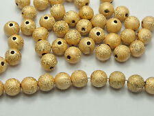 100 Gold Stardust Acrylic Round Beads 10mm Spacer Finding