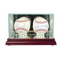 *NEW Double Baseball Glass Display Case MLB NCAA FREE SHIPPING 3 molding colors