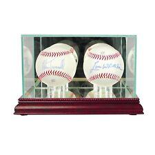 *NEW Double Baseball Glass Display Case MLB NCAA FREE SHIPPING 3 molding colors