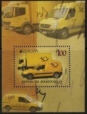 Makedonien Europa / CEPT 2013 Postfahrzeuge Michel-Nr.  Block 26 postfrisch