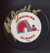 John OGRODNICK Signed QUEBEC NORDIQUES Puck