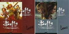 signed set (2) BUFFY the vampire slayer TPB 1 2 GEORGES JEANTY DARK HORSE trade