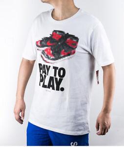 SZ 3XL Nike Jordan Fly Men's Air 1 Pay To Play T-Shirt Jumpman White 842249-100