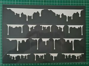 vinyl stencil self adhesive  2xA4, For trainers Airbrush, Painting, decals