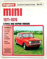 Mini 1971 1978 Gregory's No 02 Service & Repair Manual Sedan Van Estate