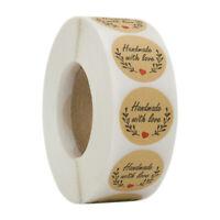 500 Pegatinas Handmade With Love Álbum De Recortes Etiqueta Hecha A Mano Pe R8P6