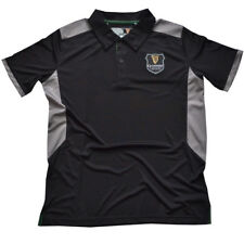 More details for guinness black/grey performance polo shirt with harp badge (s-xxl)
