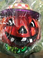 Christopher Radko Glass Ornament Halloween ~ Pumpkin 6''