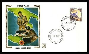 WW II - Italy surrenders 1982 Italy postal cover - no address on cover