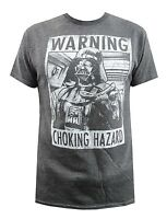 Star Wars Darth Vader Warning Choking Hazard Charcoal Heather Men's T-Shirt New