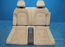 Audi A5 Cabrio (8F7) Rücksitz Leder Sitz hinten Rücksitzbank Alcantara samtbeige