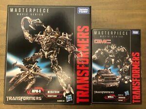 2 Takara Tomy Authentic Hasbro Transformers Masterpiece MEGATRON And Ironhide