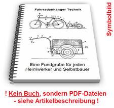 Fahrradanhänger selbst bauen - Fahrrad Anhänger Beiwagen Technik Patente