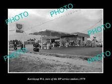 OLD LARGE HISTORIC PHOTO OF KARRINYUP WA, THE BP OIL SERVICE STATION c1970 1