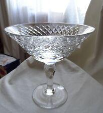 Vintage lead crystal cut glass compote bonbon dish
