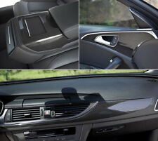 3D Car Interior Accessories Panel Black Carbon Fiber Vinyl Wrap Sticker 30*60*2