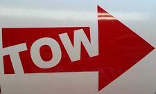 Tow Arrow sticker / decal / vinyl *Multiple colors & Sizes* Race Car