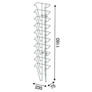 Wandprospekthalter Prospekthalter Prospektständer 10 Fächer DIN A4 - NEU