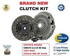 para Toyota Picnic cmx10 2.2 D 90BHP 1997-2001 Kit de embrague 239mm diámetro
