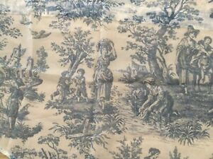 Waverly Sheer Curtain Panel, Country Life  Blue Toile EUC 4 Available