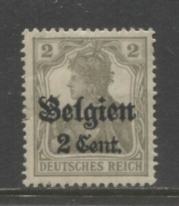 1916  BELGIUM WW 1 German occupation 2 c. Germania with op mint**