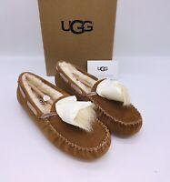 UGG Women's Dakota Pom Pom Slipper Slip On Moccasin Chestnut US 5
