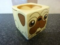 SPINNING HAT SQUARE PUG DOG MUG 2012 VERY GOOD CONDITION FOR AGE