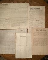 Antique Deeds & Indenture Documents ~ 1849 - 1887 Lehigh & Bucks Counties PA