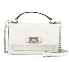 Nwt $175 Rebecca Minkoff Pebbled Leather Bianco Small Je Taime Phone Crossbody