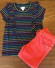 Gymboree Outfit 2T Girls Toddler Skinny Jeans Ruffle Tee
