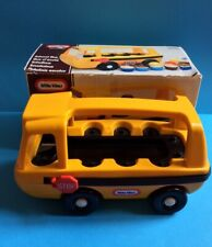 VINTAGE LITTLE TIKES YELLOW SCHOOL BUS IN BOX 0800 * 1980s * RARE