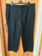 oakman dark navy wool blend suiting trousers 44 short bnwt men