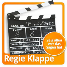XXL Regieboard Regieklappe Regie Film-Klappe Filmklappe Kreidetafel 30cm Holz