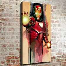 "12""x22""Iron man watercolor HD Canvas print Painting Home decor Wall Picture art"