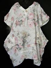 Maglie e camicie da donna bianchi con Scollo a V Taglia Taglia unica
