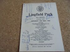LINGFIELD Race Carte 26TH mai, 1962 Chênes-procès-Nortia-Joe Mercer & W. Hern