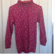 Hanna Andersson 100% Cotton Red Floral Turtleneck Size Girls 150 (USA 12 to 14)