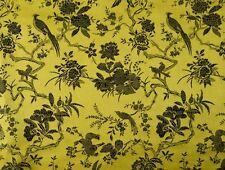 China Brokat Blumen und Vögel gelb Meterware