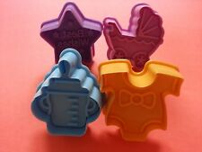 4X Baby Toy Cookie Cake Cutter Fondant Plunger Sugarcraft DIY Mould