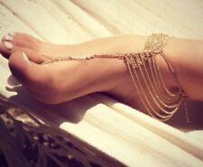 Women Barefoot Sandal Anklet Gold Bohemian Foot Bracelet Boho Beach Jewellery AU