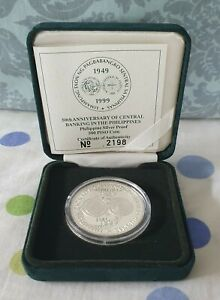 Philippine Coin 1999 BSP P500 Proof Silver