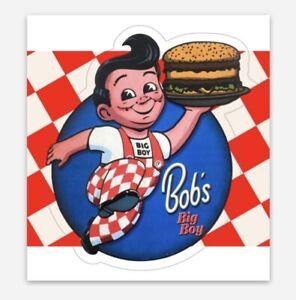 Bob's Big Boy Car Hop Vintage Custom Kiss Cut Sticker For Fridge Toolbox