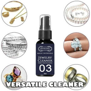 30ml Gem Jewelry Cleaner Solution Diamond Silver Gold Jewelry Cleaning Spray