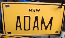 "BICYCLE Childs  metal NAME PLATE ""ADAM"" Retro ,vintage free post"